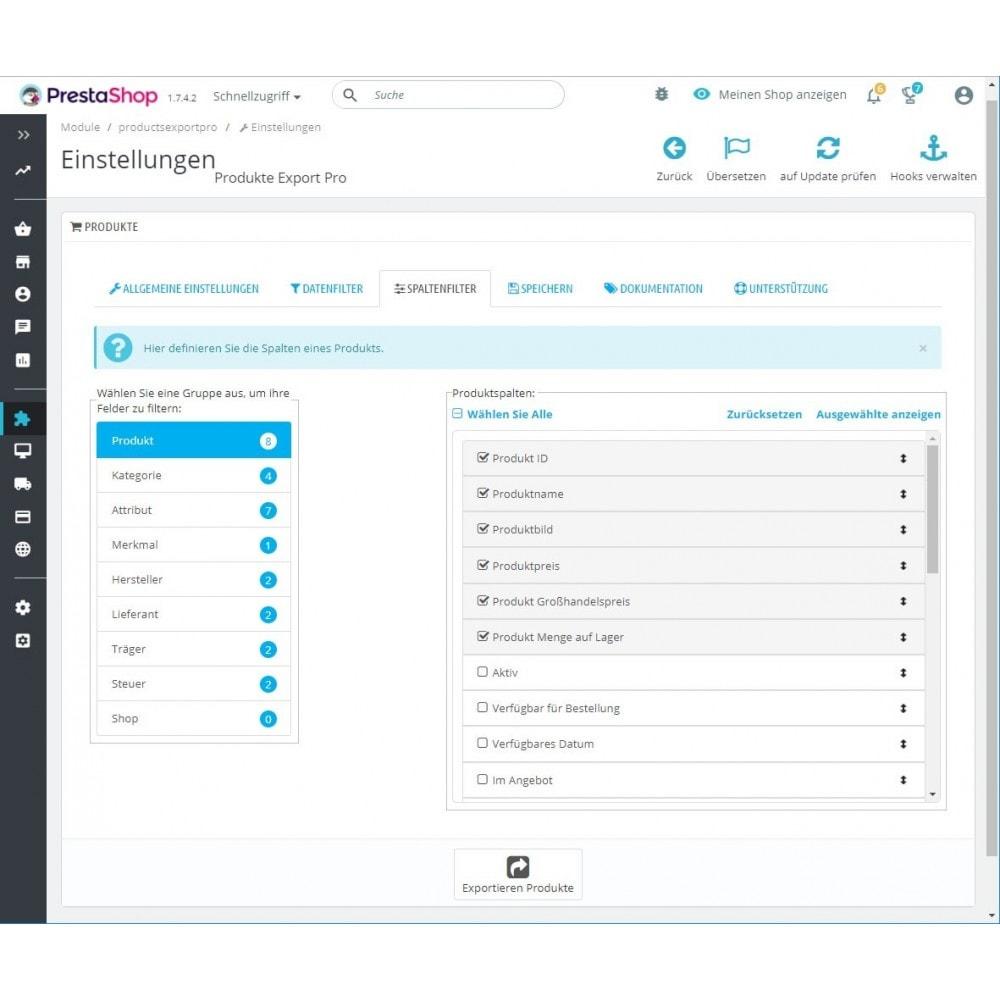module - Daten Im-&Export - Produkte Export (Excel, CSV, XML, Cron, Email, FTP) - 3
