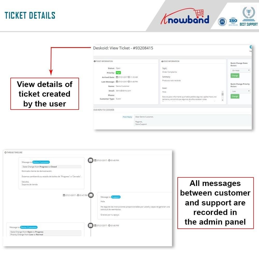 module - Servizio post-vendita - Knowband - Deskoid Helpdesk - 3