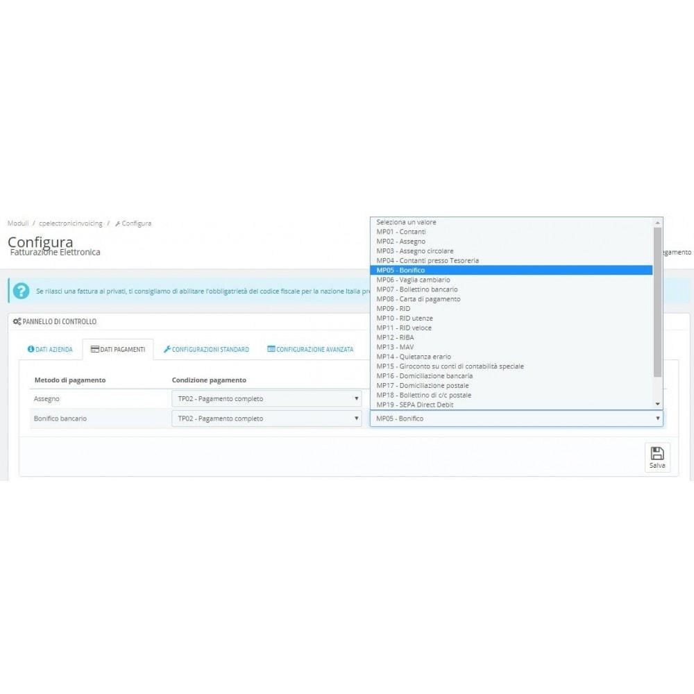 module - Pagamento con Fattura - Fatturazione elettronica completo (+ note credito) - 2
