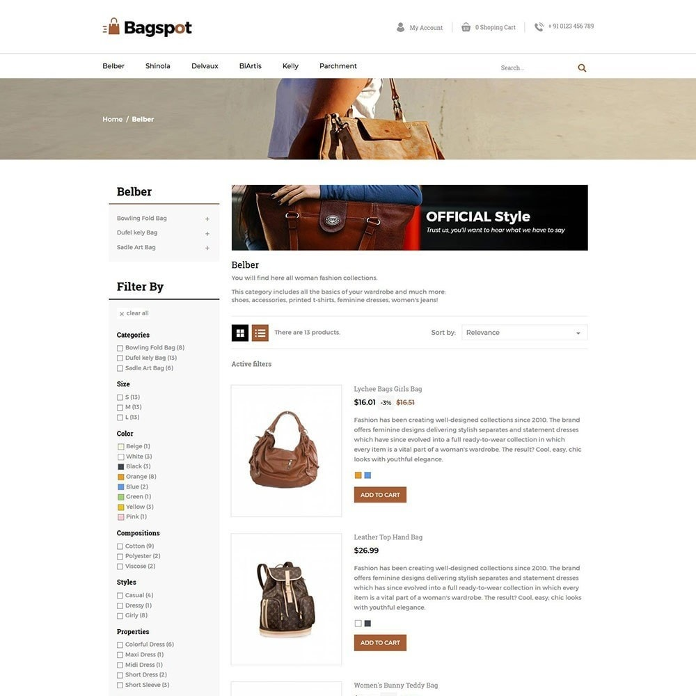 theme - Mode & Chaussures - Bagspot - Magasin de mode Sac - 6