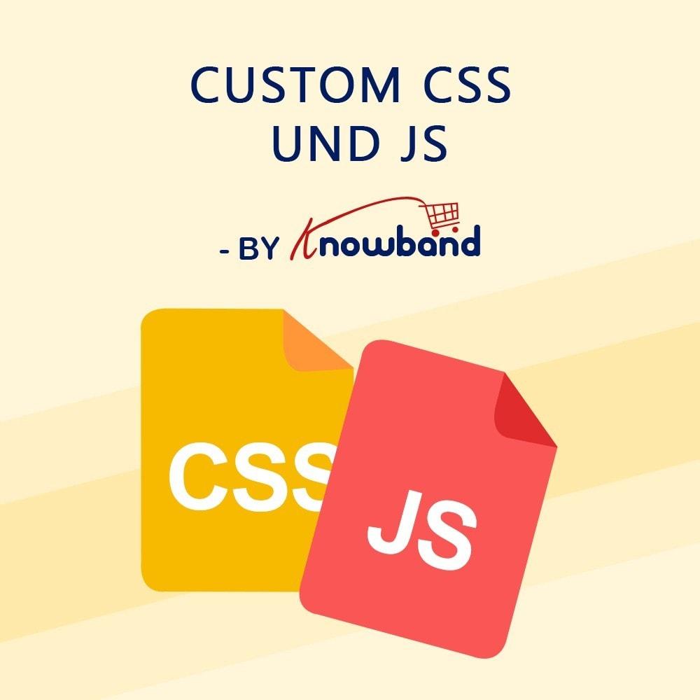 module - Individuelle Seitengestaltung - Knowband- Anpassbare CSS und JS Codes - 1