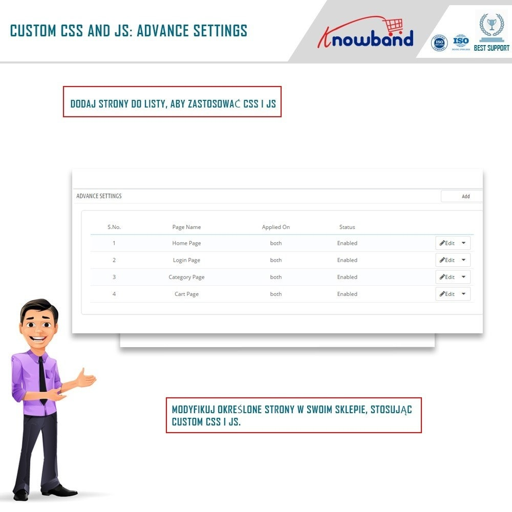 module - Personalizacja strony - Knowband - Custom CSS and JS - 2