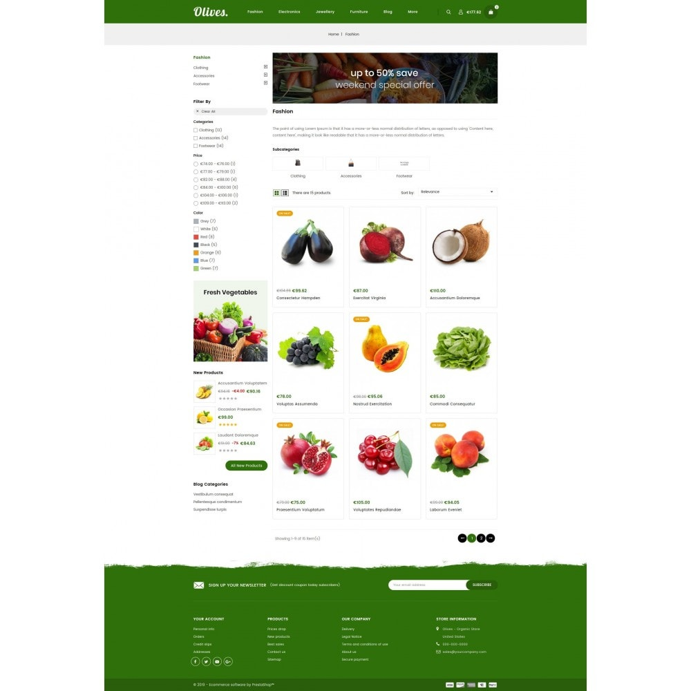 theme - Lebensmittel & Restaurants - Olives - Organic Store - 3