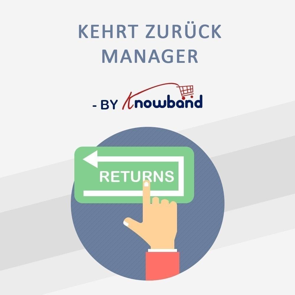 module - Kundenservice - Knowband - Bestellrückleiter-Rückschein mit Barcode - 1
