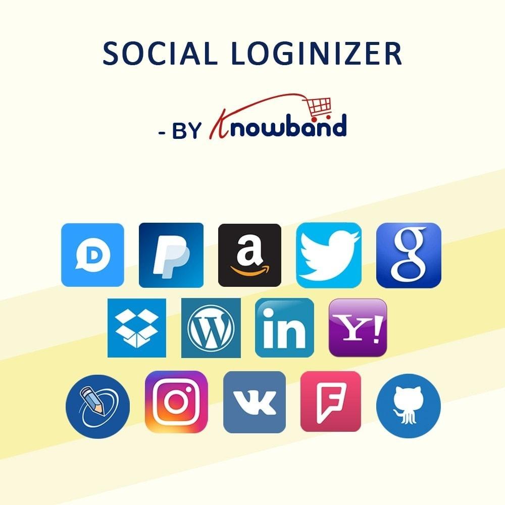 module - Login & Verbinden - Knowband-Social Login 14 in 1,Statistiken und Mailchimp - 1