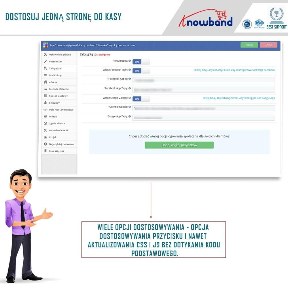 module - Szybki proces składania zamówienia - One Page Checkout, Social Login & Mailchimp - 3