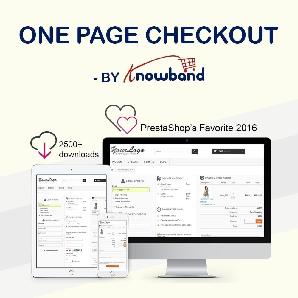 module - Процесс заказа - One Page Checkout, Social Login & Mailchimp - 1