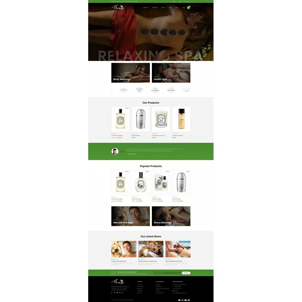 theme - Health & Beauty - Thaye - Massage Parlour - 2
