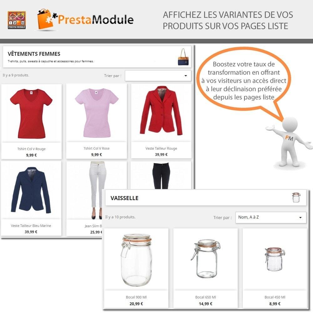 module - Déclinaisons & Personnalisation de produits - Products by attributes: Produits affichés par attributs - 1