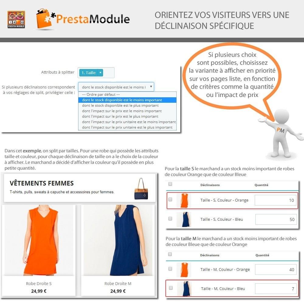 module - Déclinaisons & Personnalisation de produits - Products by attributes: Produits affichés par attributs - 6