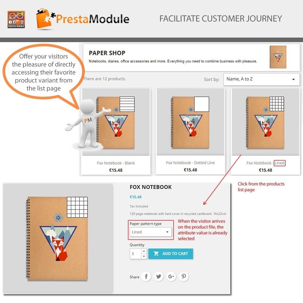 module - Versies & Personalisering van producten - Products by Attributes: Producten weergeven per kenmerk - 3