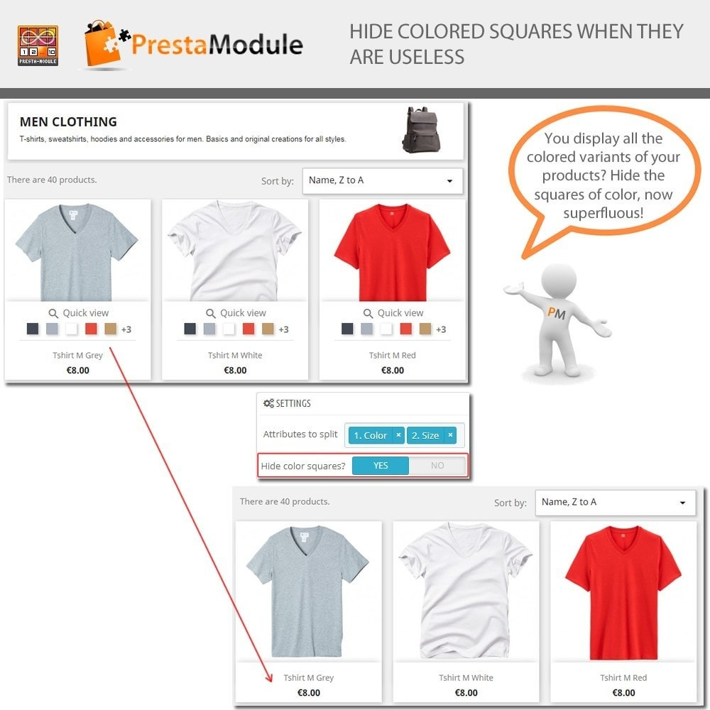 module - Combinations & Product Customization - Products by Attributes - Display combinations - 5