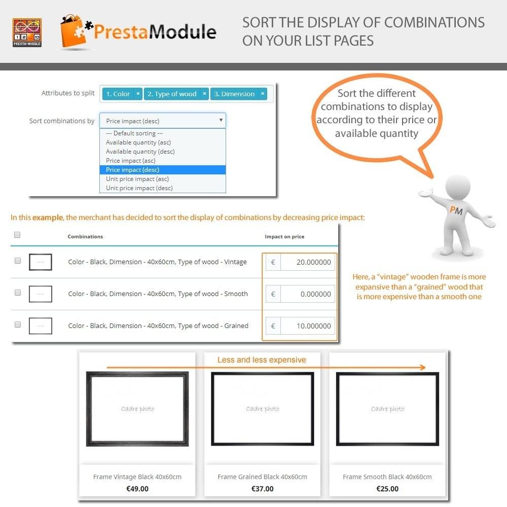 module - Versies & Personalisering van producten - Products by Attributes: Producten weergeven per kenmerk - 7
