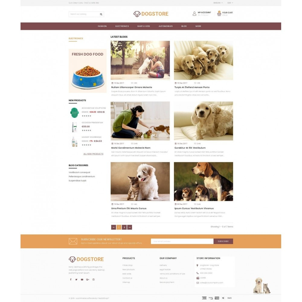theme - Tier - Dog Store - Pet Food Store - 9