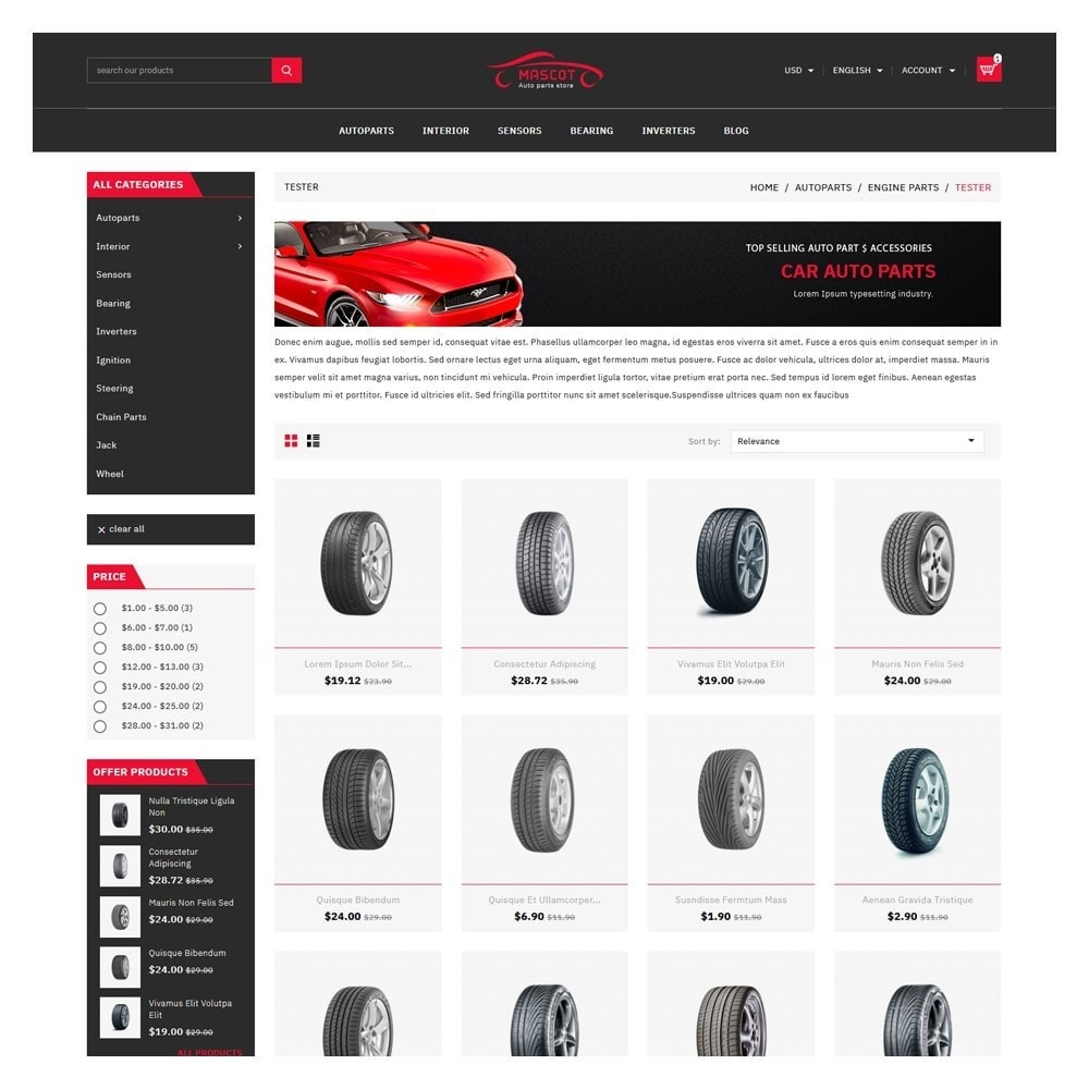 theme - Coches y Motos - Mascot Automotive & Cars Parts - 3