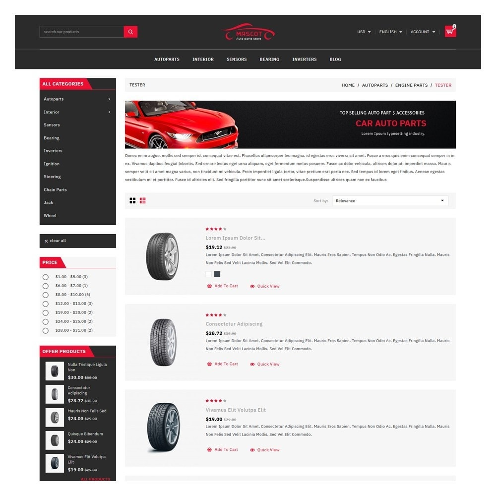 theme - Coches y Motos - Mascot Automotive & Cars Parts - 4