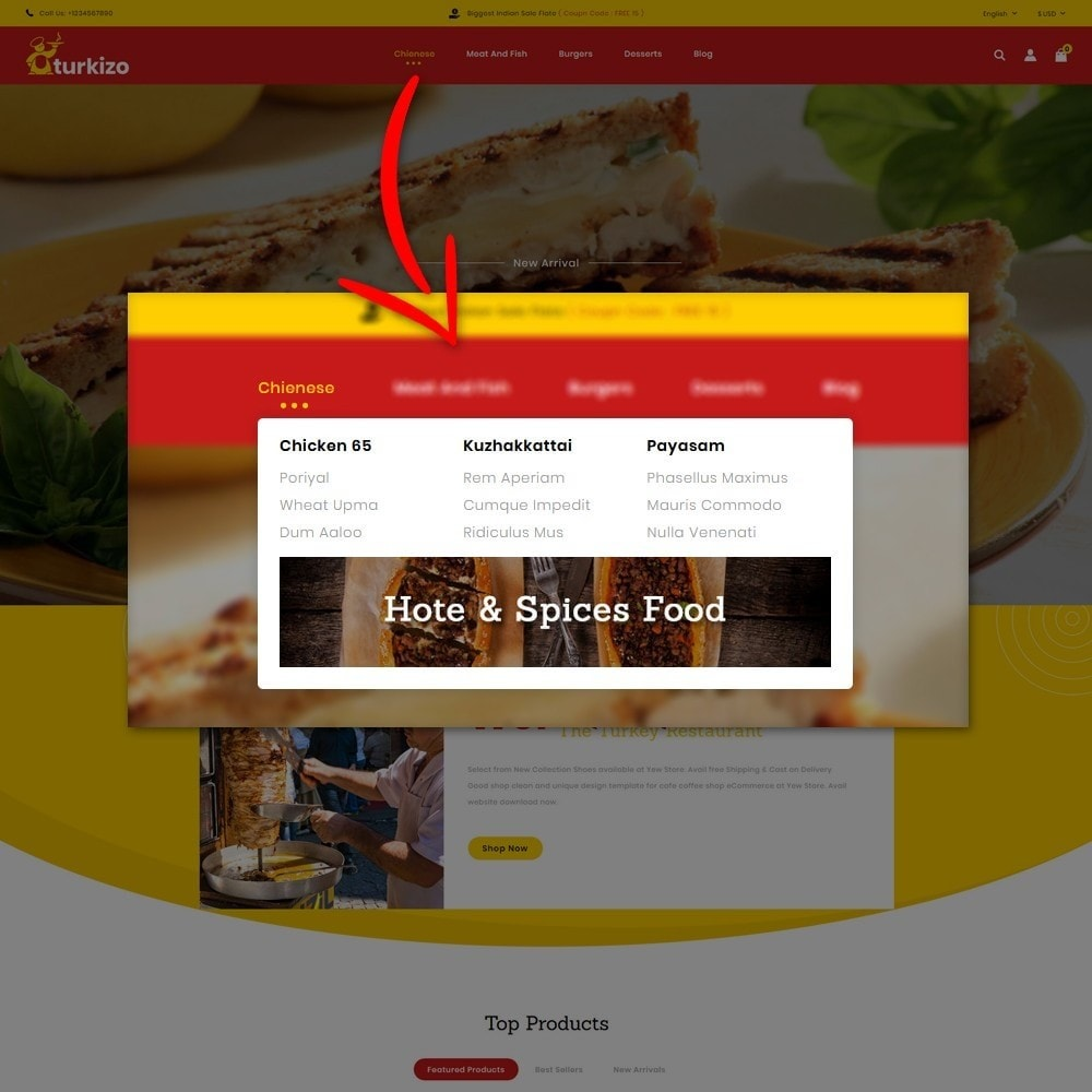 theme - Food & Restaurant - Turkizo Turkish Food Store - 7