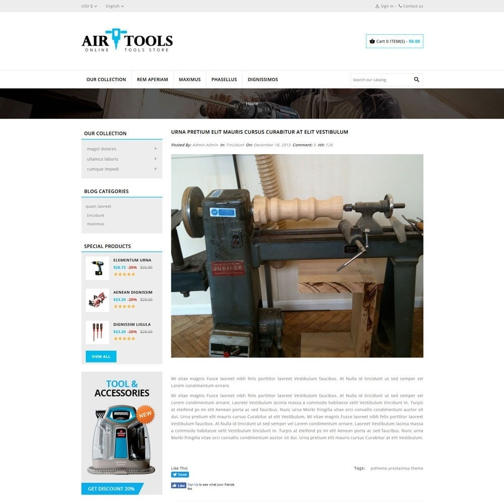 theme - Carros & Motos - AirTools - The Tool Store - 7