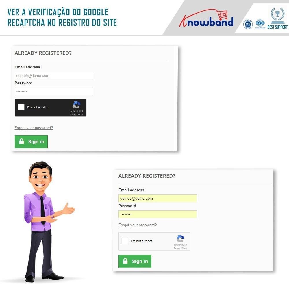 bundle - Segurança & Acesso - Security Pack - reCaptcha, Private Shop, Block Spam - 3