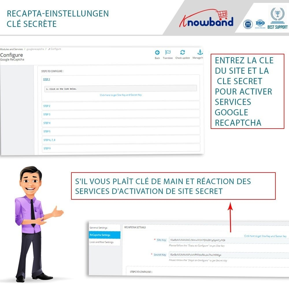 module - Sécurité & Accès - Google reCaptcha - 6