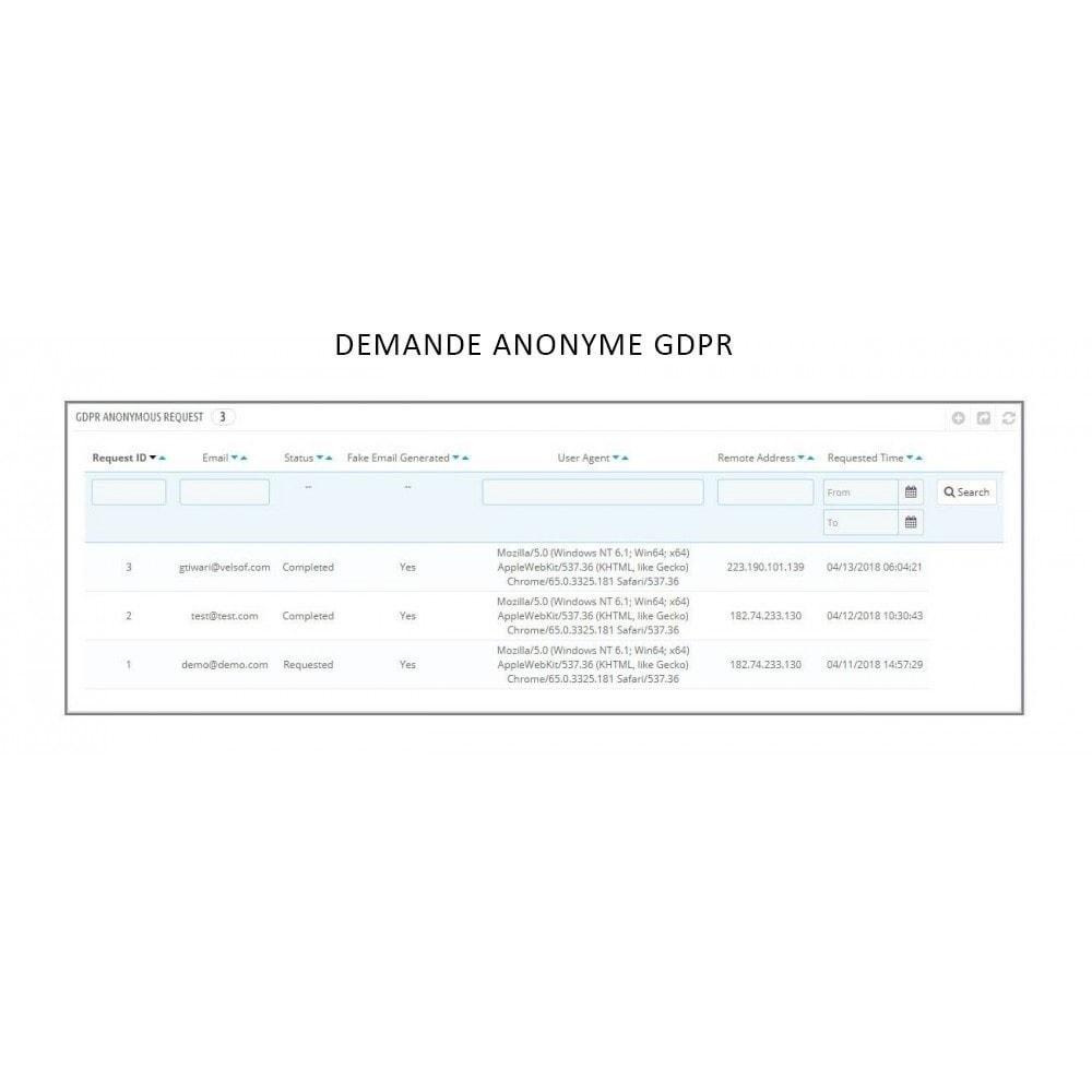 module - Législation - Knowband - RGPD - Droits des individus - 9