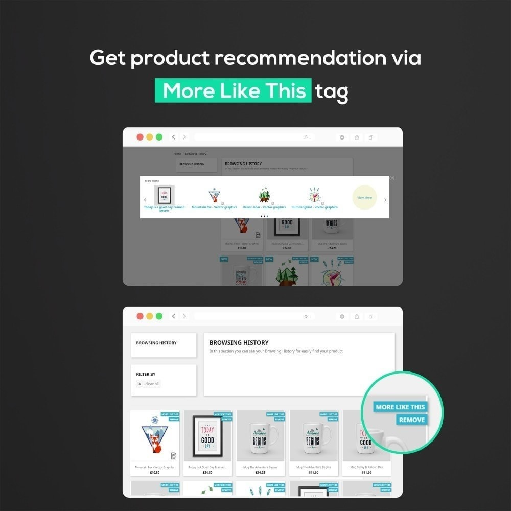 Module Recently Viewed Products : Cross Sell, Dedicated Page