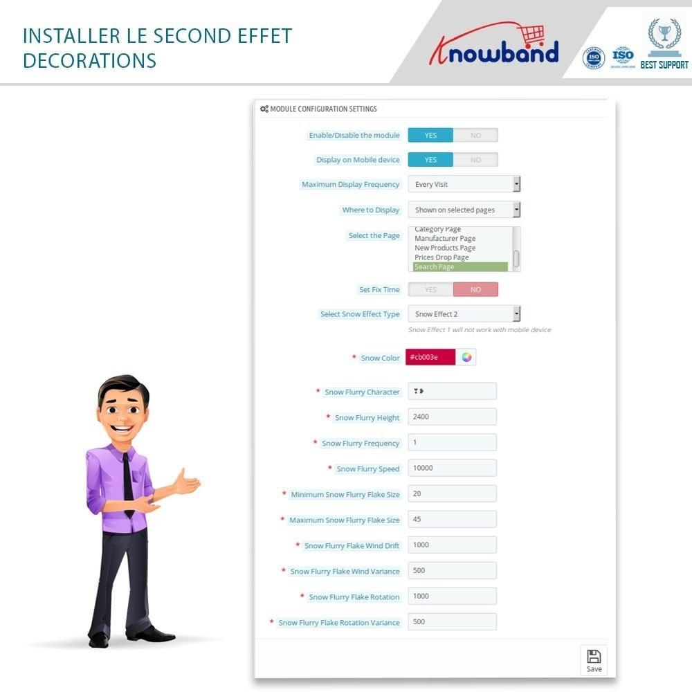 module - Personnalisation de Page - Knowband - Website Decoration Effects - 4