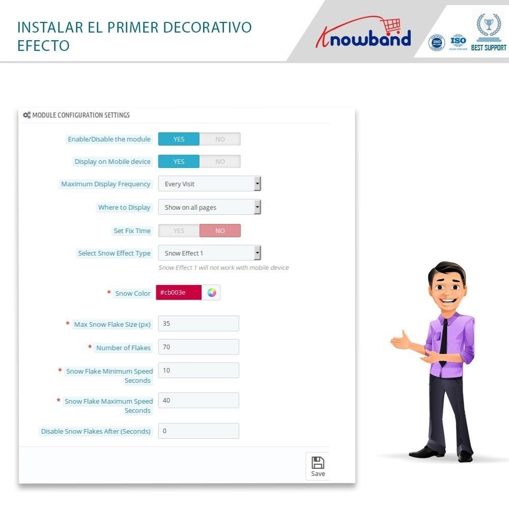 module - Personalización de la página - Knowband - Website Decoration Effects - 4