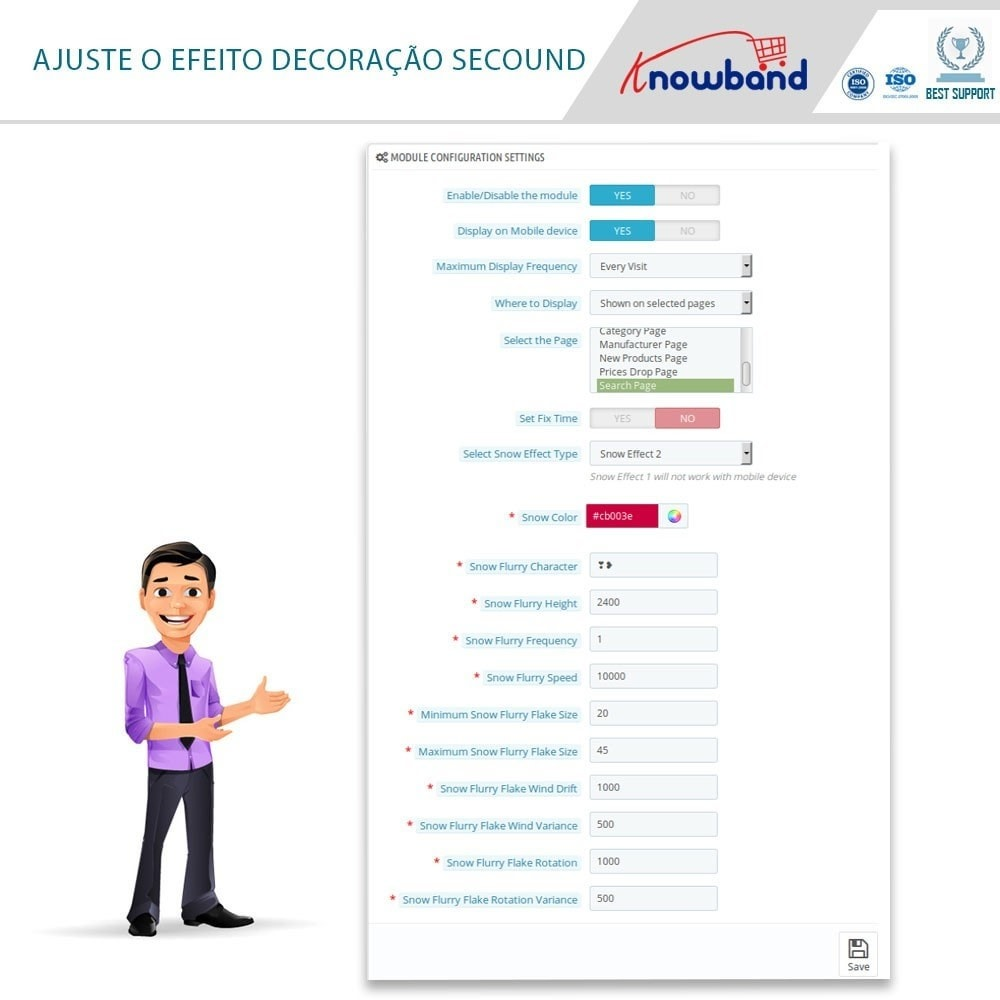 module - Personalização de página - Knowband - Website Decoration Effects - 4