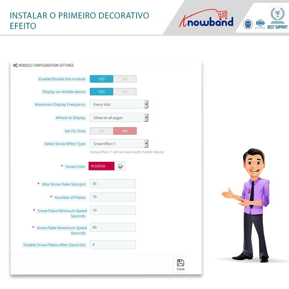 module - Personalização de página - Knowband - Website Decoration Effects - 5