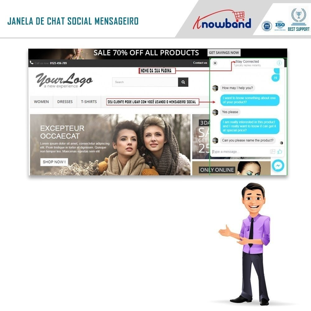 module - Suporte & Chat on-line - Social Messenger, Live Chat Support - 3