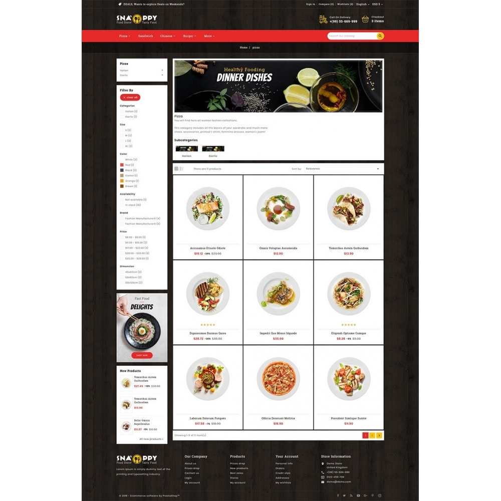 theme - Food & Restaurant - Snappy - Fast Food - 3