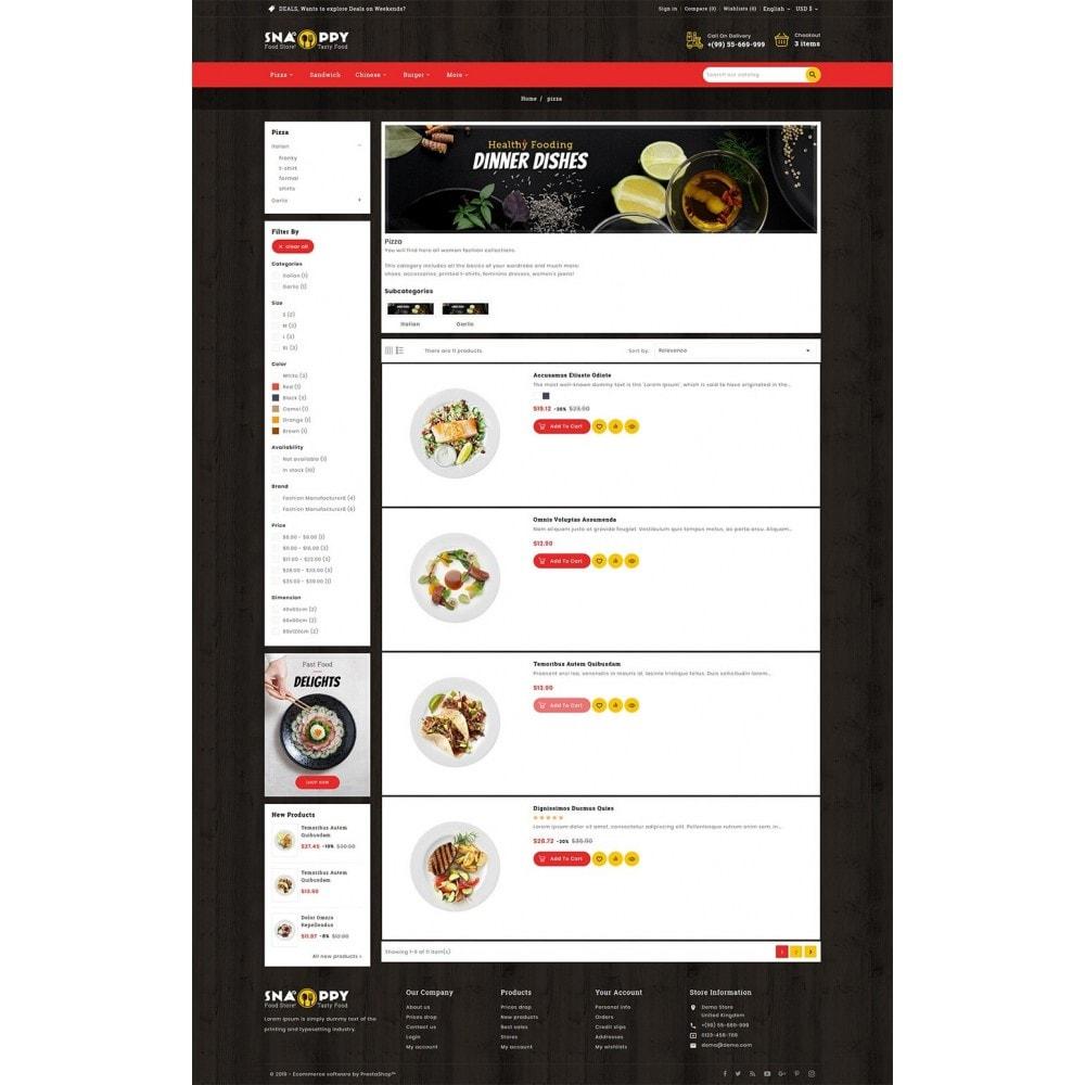 theme - Продовольствие и рестораны - Snappy - Fast Food - 4