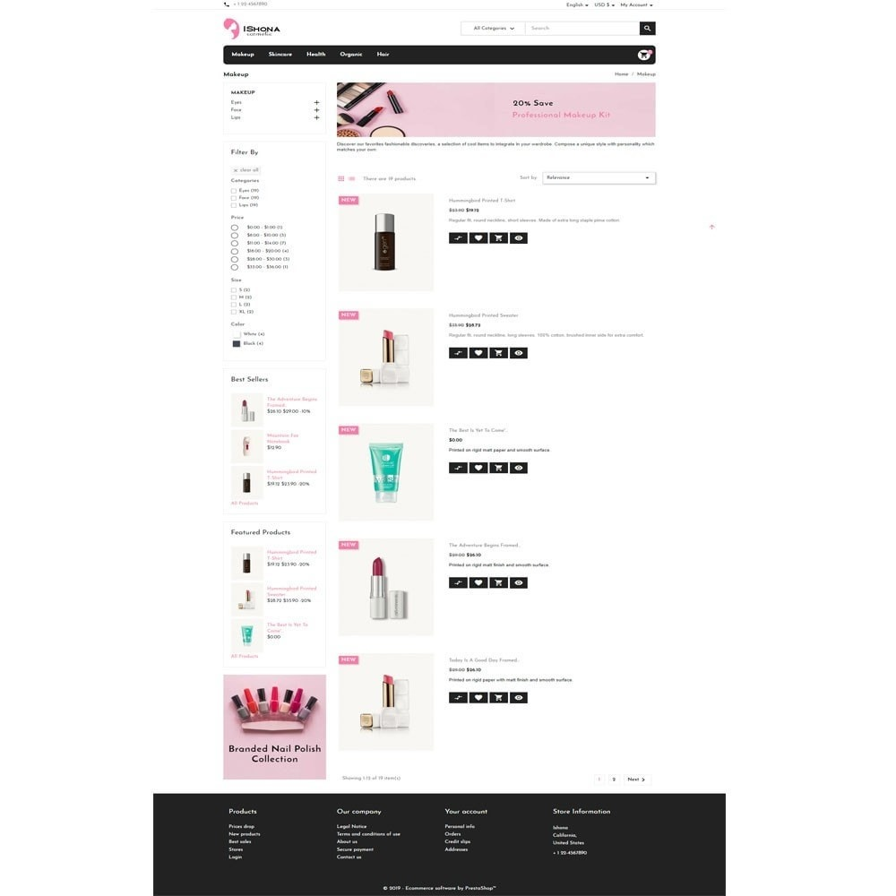theme - Health & Beauty - Ishona Cosmetic Store - 4