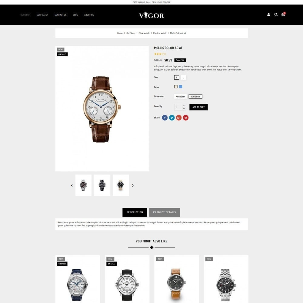 theme - Mode & Schuhe - Vigor - The Watch Store - 6