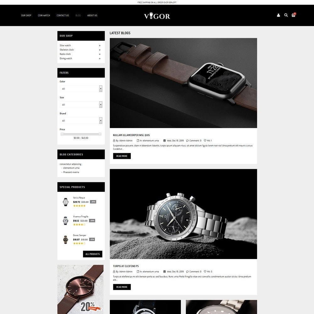 theme - Mode & Schuhe - Vigor - The Watch Store - 7