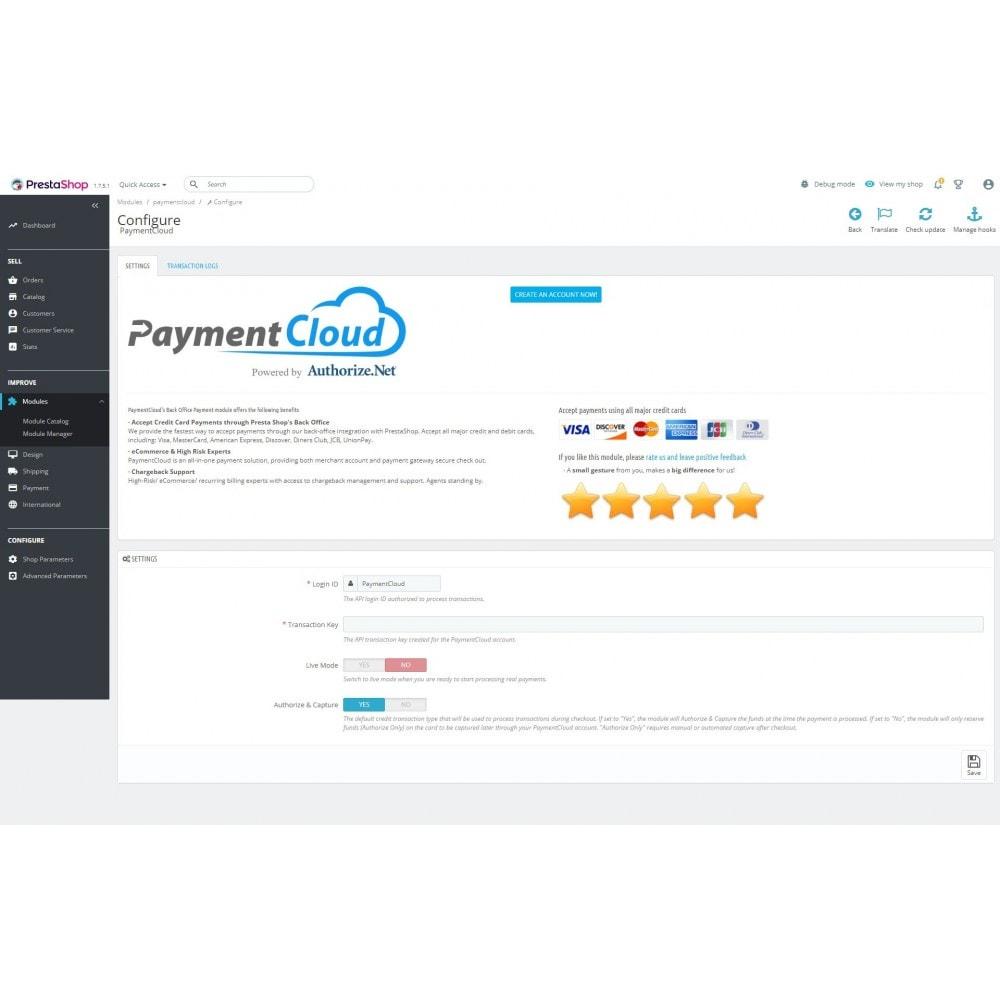 PaymentCloud - PrestaShop Addons