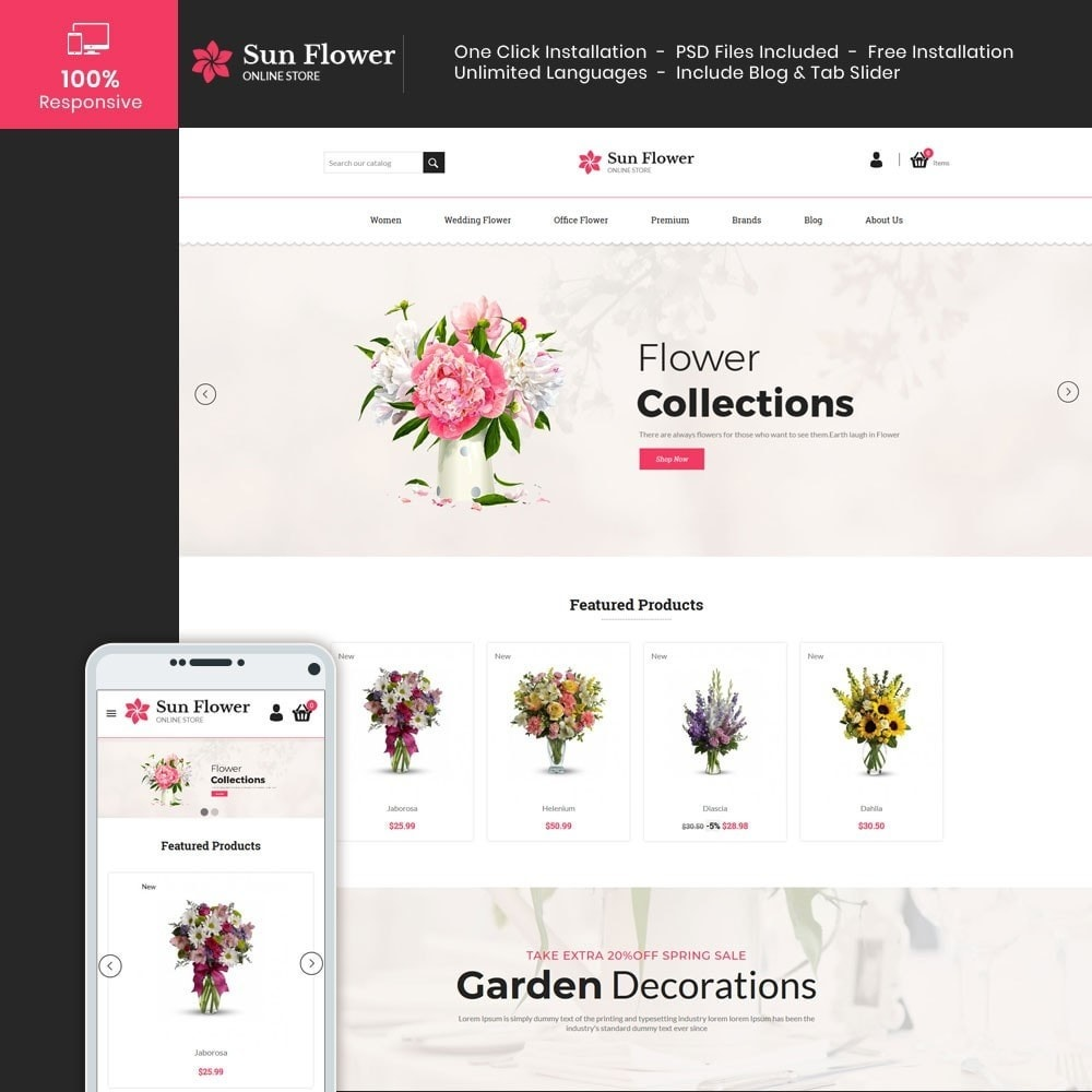 theme - Regali, Fiori & Feste - Flower Gift - Love Choclate Store - 1