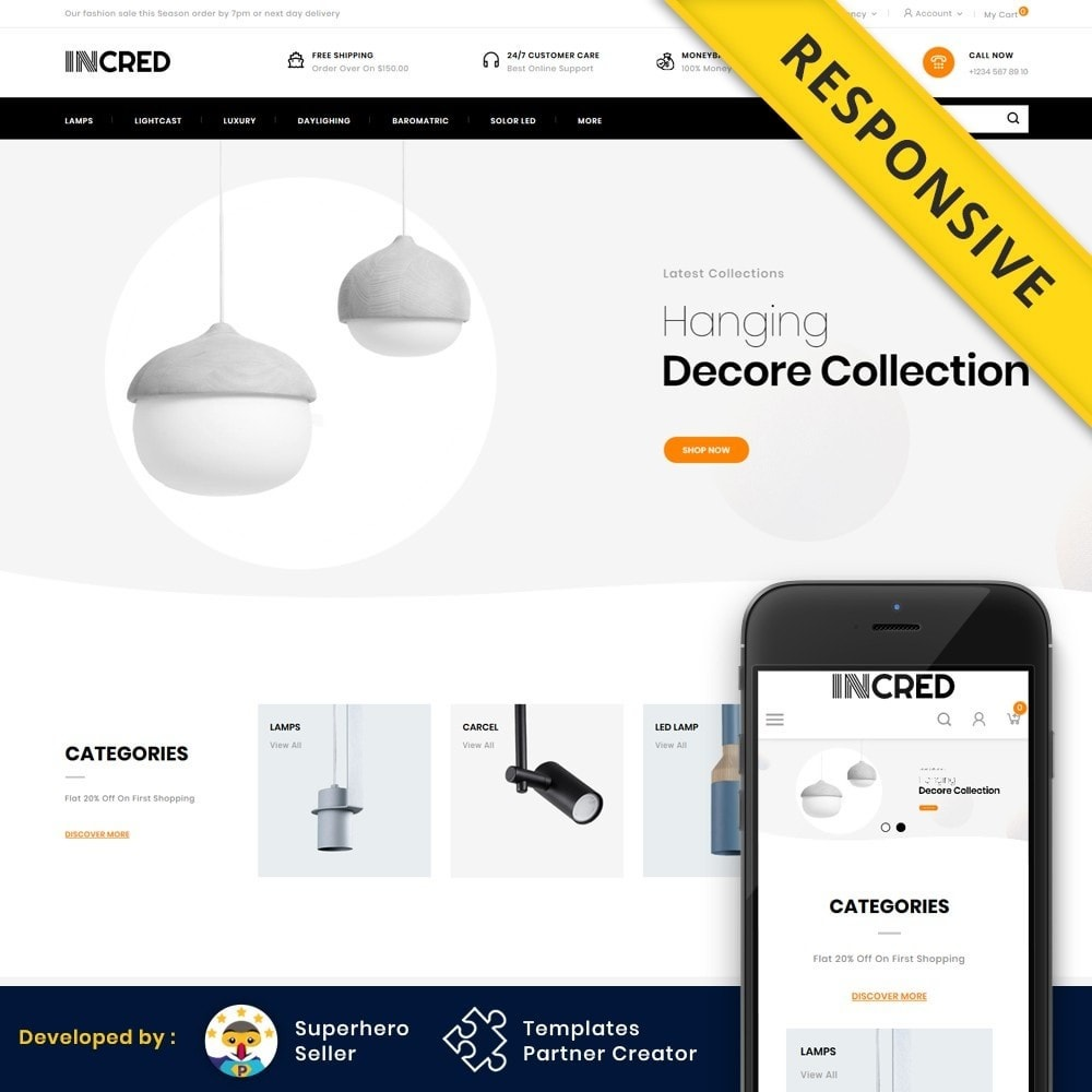 theme - Casa & Jardins - InCred - Light Accessories Store - 1