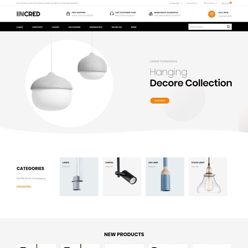 theme - Casa & Jardins - InCred - Light Accessories Store - 2