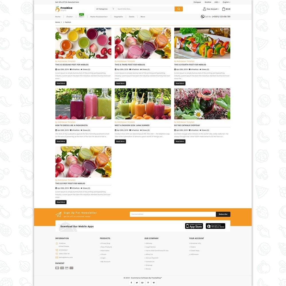 theme - Alimentation & Restauration - Freshise - The Best Organic Store - 6