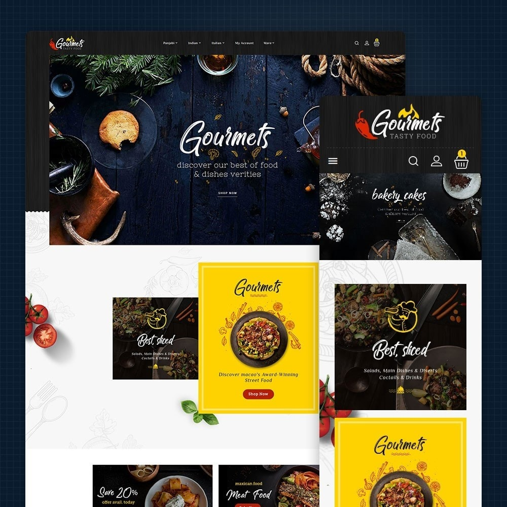 theme - Food & Restaurant - Gourmets - Tasty Food & Dishes - 1