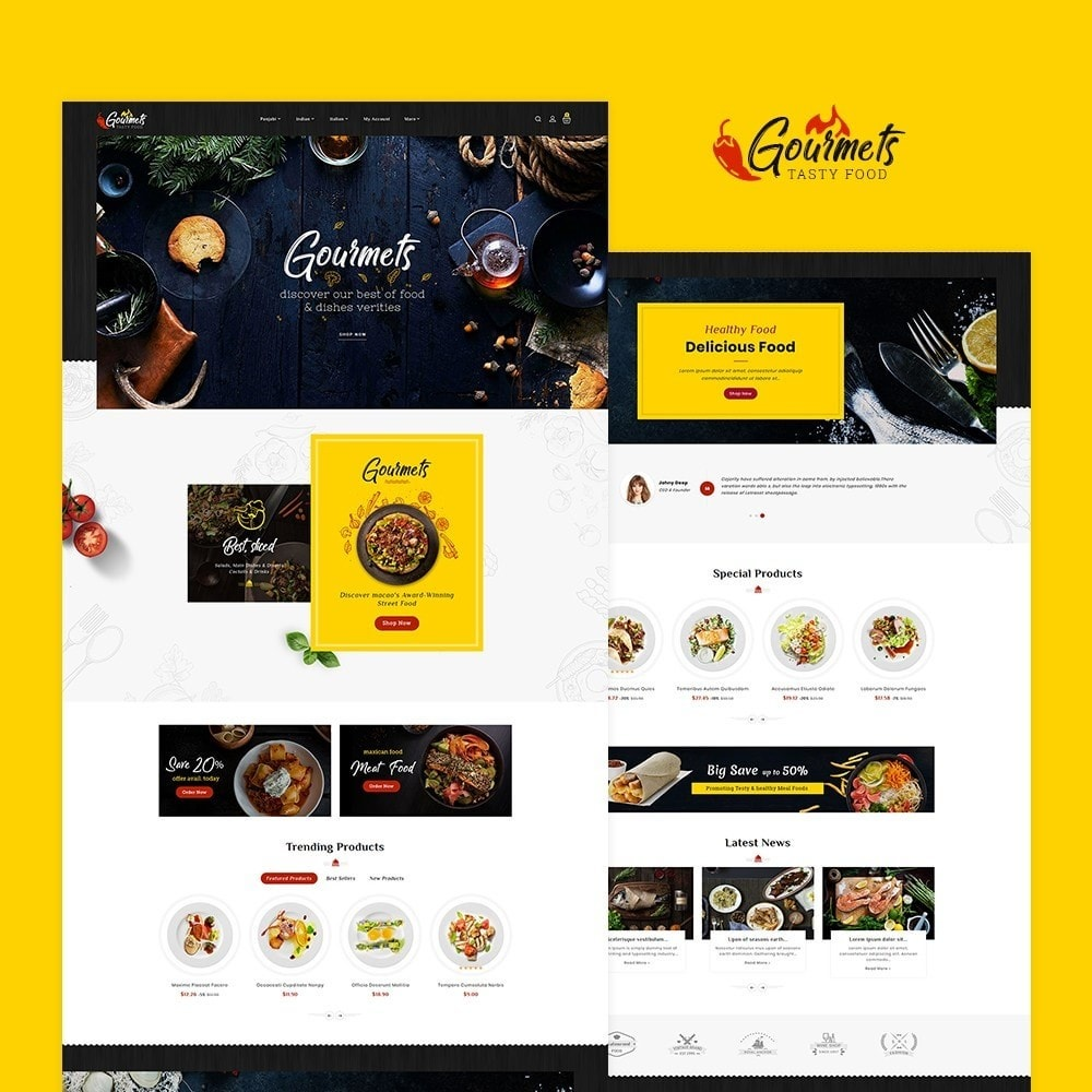 theme - Food & Restaurant - Gourmets - Tasty Food & Dishes - 2