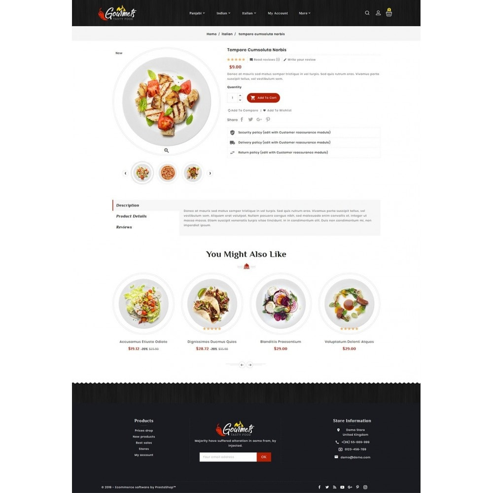 theme - Food & Restaurant - Gourmets - Tasty Food & Dishes - 5