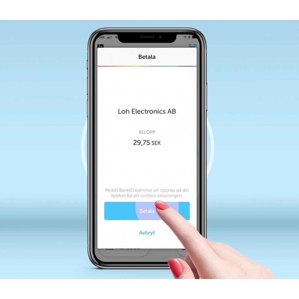 module - Otros métodos de pago - Swish för handel - Sync Mobile APP - 3
