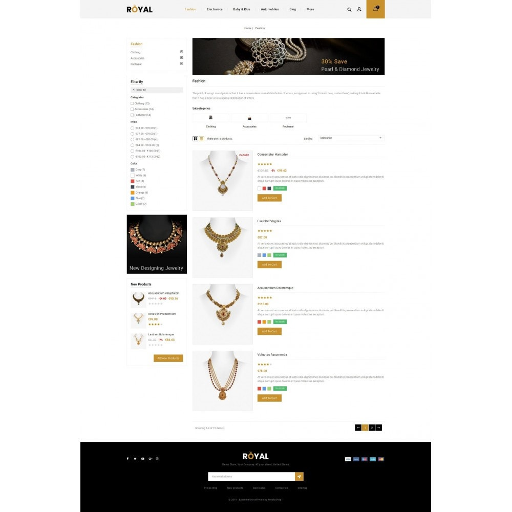 theme - Bellezza & Gioielli - Royal - Jewellery Store - 4