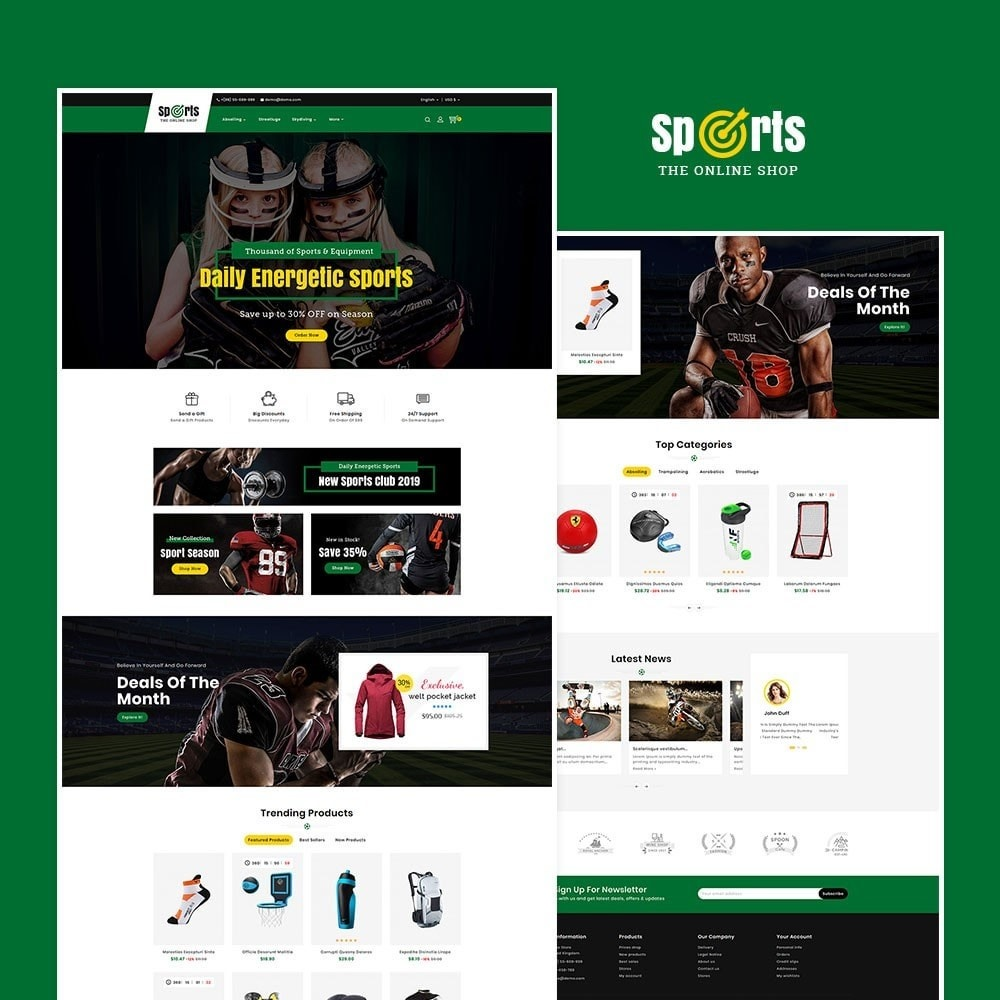 theme - Desporto, Actividades & Viagens - Sports - Seasonal Store - 2