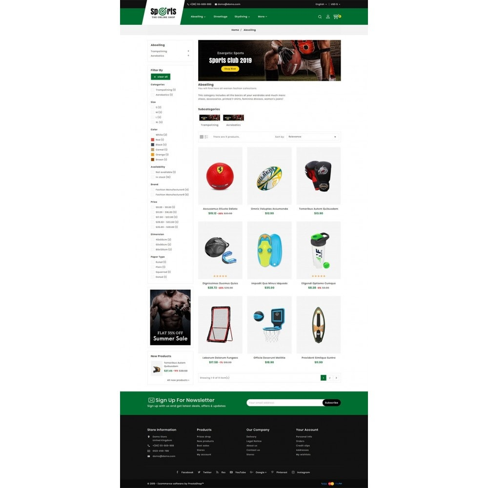 theme - Desporto, Actividades & Viagens - Sports - Seasonal Store - 3