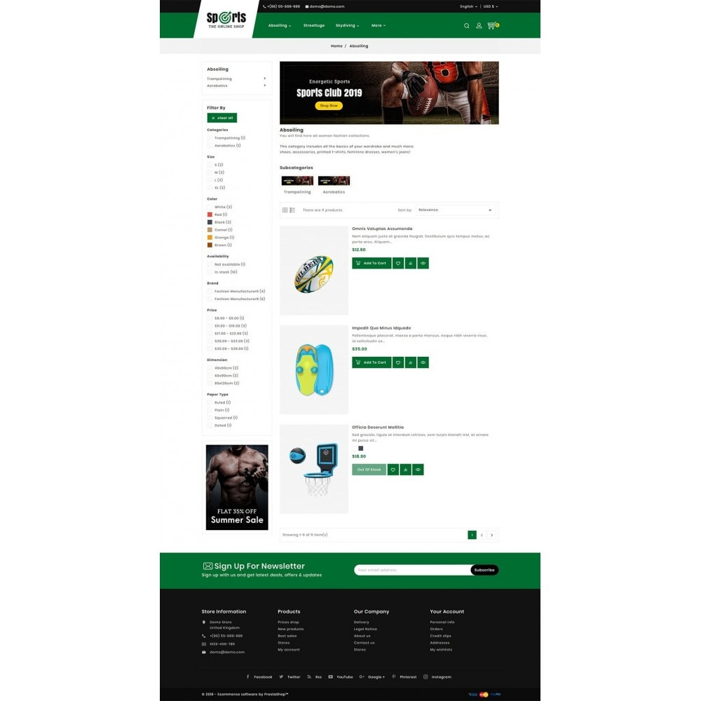 theme - Desporto, Actividades & Viagens - Sports - Seasonal Store - 4