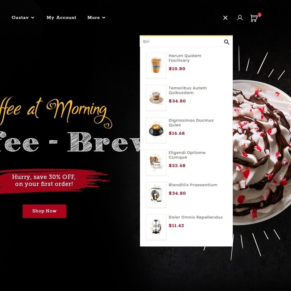 theme - Drink & Tobacco - Brew Chic - Coffee Shop - 10